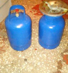 Газовые балоны с горелкой 5кг.