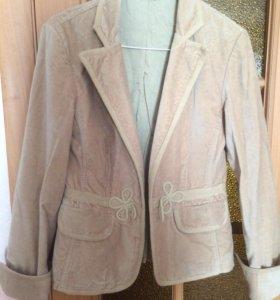 Вельветовый пиджак 42-44