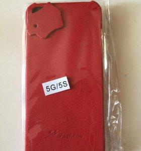 Чехол кожаный для айфона 5