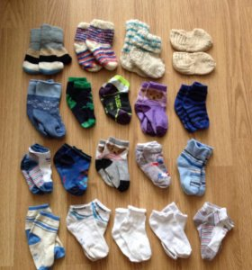Много носочков от 1.5 до 2,5 лет