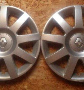 Оригинальные диски с колпаками на R14 от Рено 4 шт