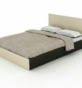 Кровать двуспальная 140х200