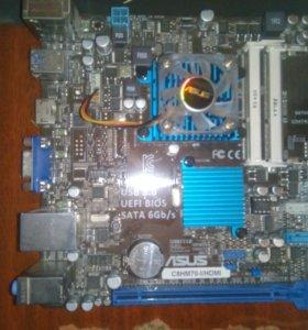 Материнская плата+процессор ASUS C8HM70