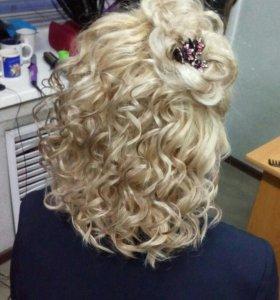 Плетение кос .и т д..прически на корпоротивы...