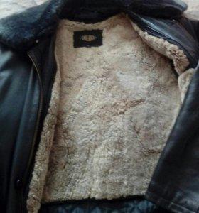 Куртка кожа с отстег мехом натур