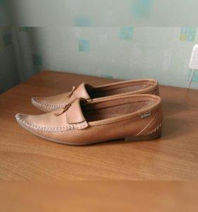 Мокасины туфли натуральныя кожа