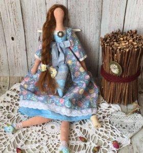 Текстильная интерьерная кукла Тильда Ангел