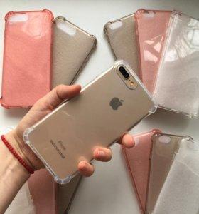 Силиконовый чехол для iPhone 5, 6, 6+, 7, 7+