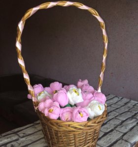 Букет из конфет цветы из конфет
