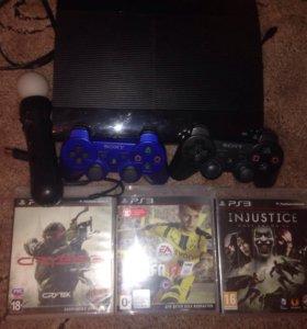 PlayStation 3(2 джойстика+3 игры)