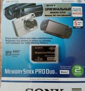 флешка Memory Stick PRO Duo m2