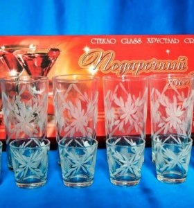 Подарочный набор стаканы + стопки
