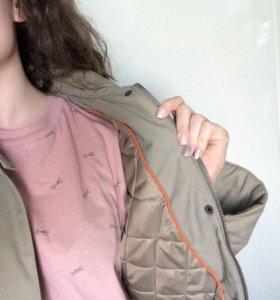 Джинсовая куртка милитари из хлопка Broadway