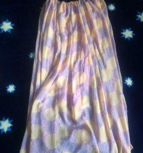 Юбка(один размер),платье розовое(44-46),джинсы 44,