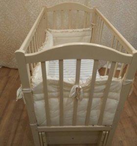Детская кровать с кокосовым матрасом