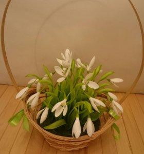 Подснежники.Цветы из полимерной глины