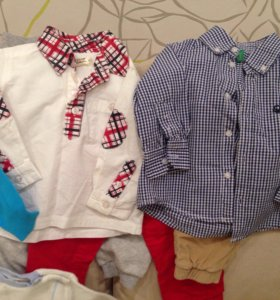 Рубашки кофты футболки Benetton, cool clan и др.