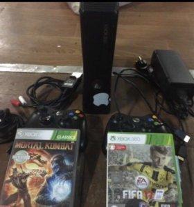 Xbox 360 на 250 gb+ kinect