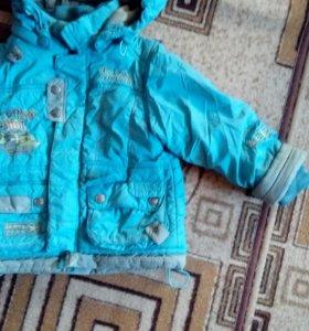 Продаю осений костюм(курточка,штанишки)р-86.