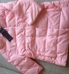 Куртка с укорочёнными рукавами, новая