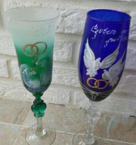 Свадебные бокалы для молодожон
