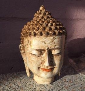 Декор из Индии голова Будды,статуэтка новая