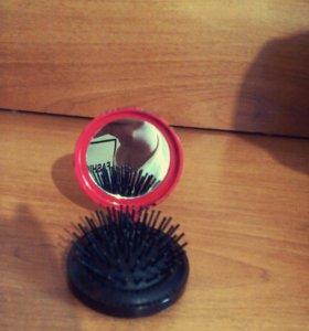 2 в 1 зеркальце вместе с расчёской