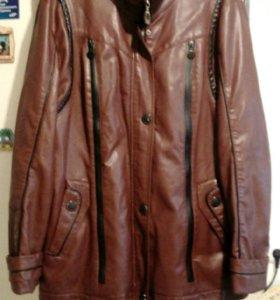 Куртка кожзам 56 р