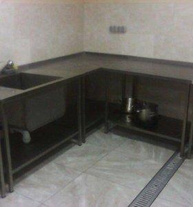 Мойки и столы нержавейка для проф кухни