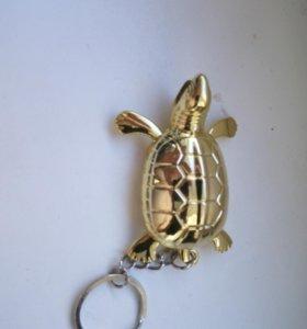 Брелок зажигалка Золотая черепаха