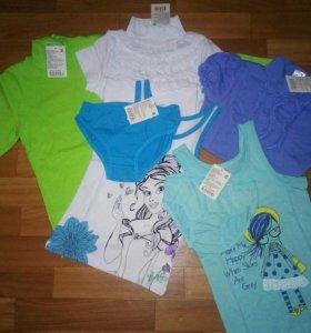 Пакет новой одежды на девочку,р.122