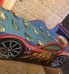 Детская кровать машинка молния маквин