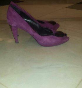 Туфли замшевые.Италия