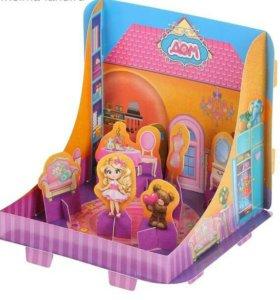 Набор кинетического песка для девочки с куколкой