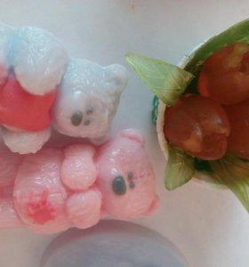 Мыло ручной работы Мишки 3Д