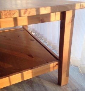 Стол журнальный ИКЕА (хемнэс) из массива сосны