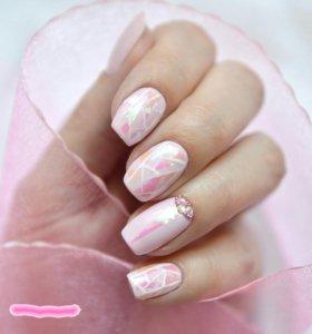 """Фольга для создания эффекта""""битое стекло""""на ногтях"""