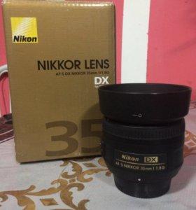 Объектив Nikkor 35mm f/1.8g