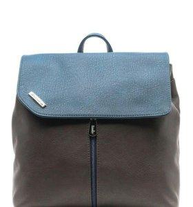Рюкзак женский бирюзовый/ коричневый
