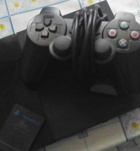 SonyPlayStation 2 slim. + 6 игр в комплекте