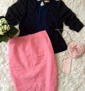 Блуза М, юбка С