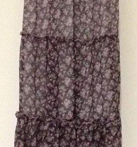 Юбка шифоновая на подкладке р.42-44