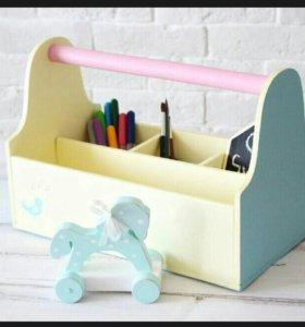 Ящик-органайзер для творчества детский