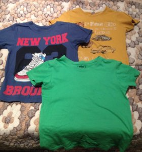 3 футболки за 100 6-7 лет