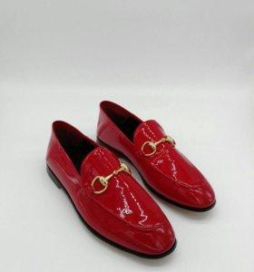 Туфли красные gucci 💯