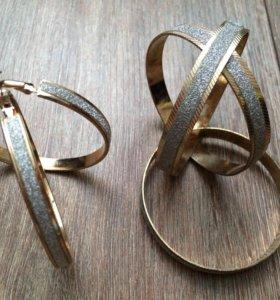 набор серьги и браслет