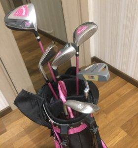 Клюшки для гольфа, тележка для бэга