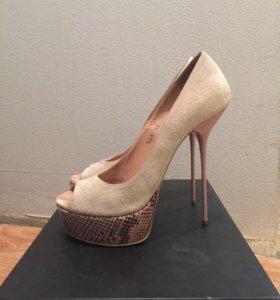 Туфли натуральная замша размер 35