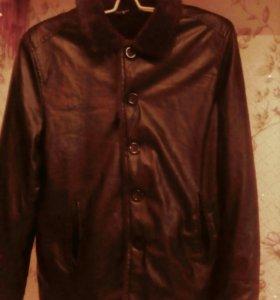 Мужская куртка кожзам новая