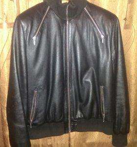 Куртка кожанная бомбер